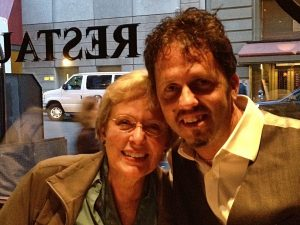 Carol Rosenberger and Delos Composers/Naxos VP Sales and Development Sean Hickey in San Francisco, August 2013