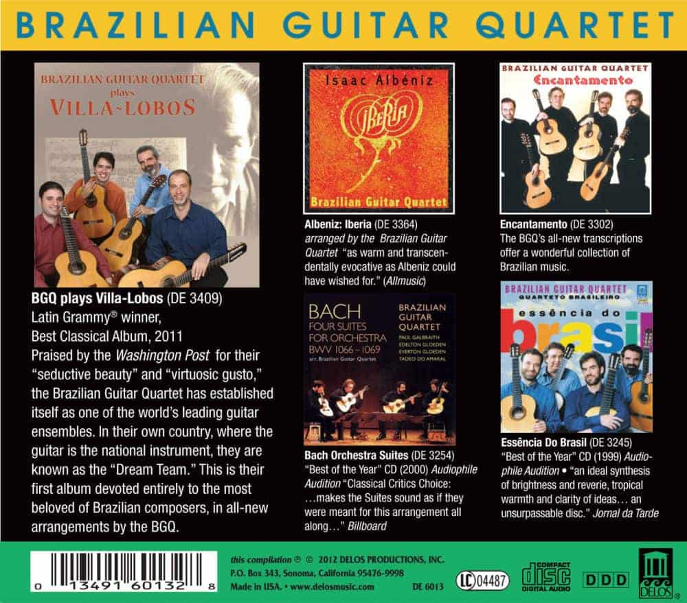 Brazilian Guitar Quartet Box Set Back Cover