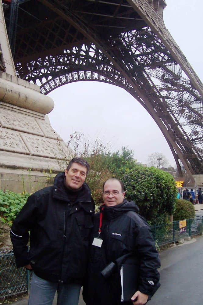 Joseph Bertolozzi at the Eiffel Tower