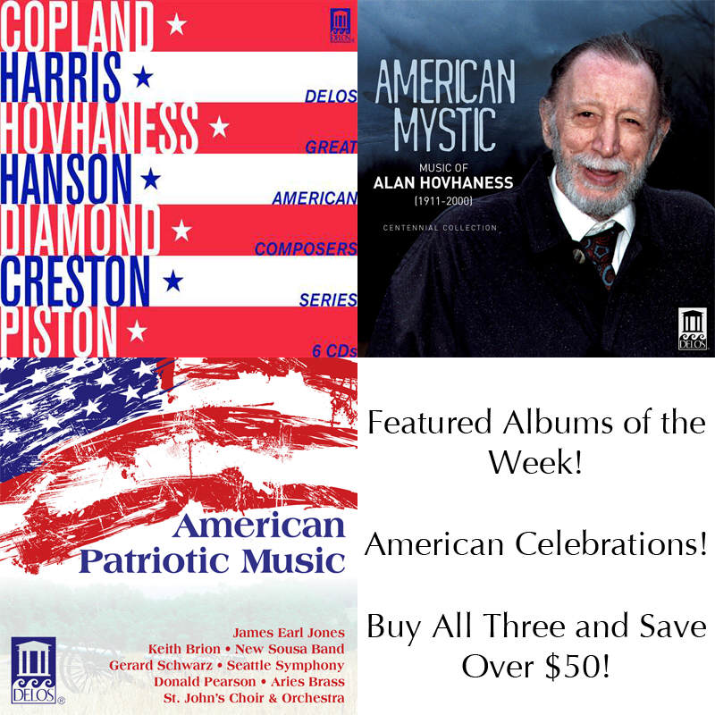 Albums of the Week - American Celebrations | Delos Store Sales