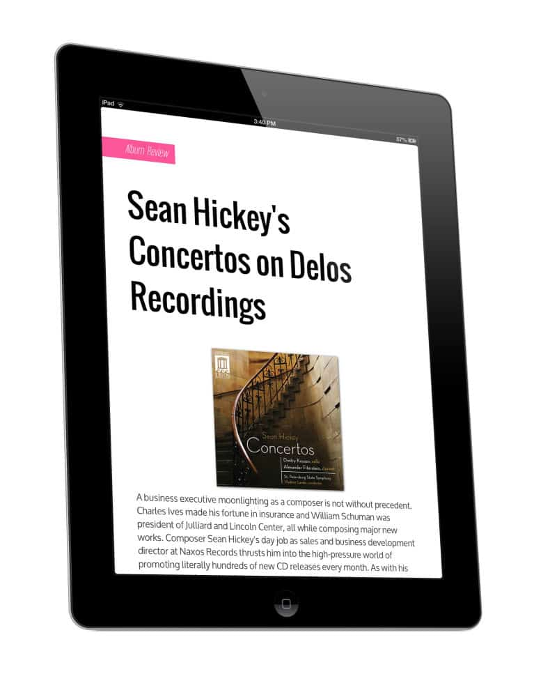 I Care If You Listen Digital Magazine Review Sean Hickey: Concertos | iPad