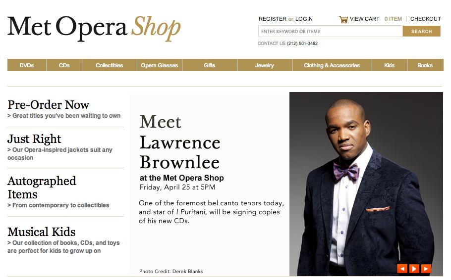 Meet Lawrence Brownlee at the Met Opera Shop