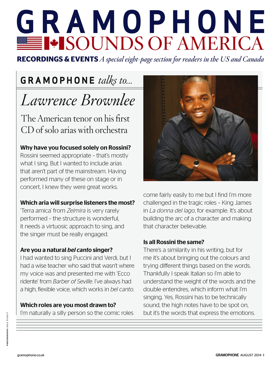 Lawrence Browlnee Gramophone Interview