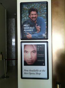 Marcelo Alvarez and Dmitri Hvorostovsky at the Met Opera Shop