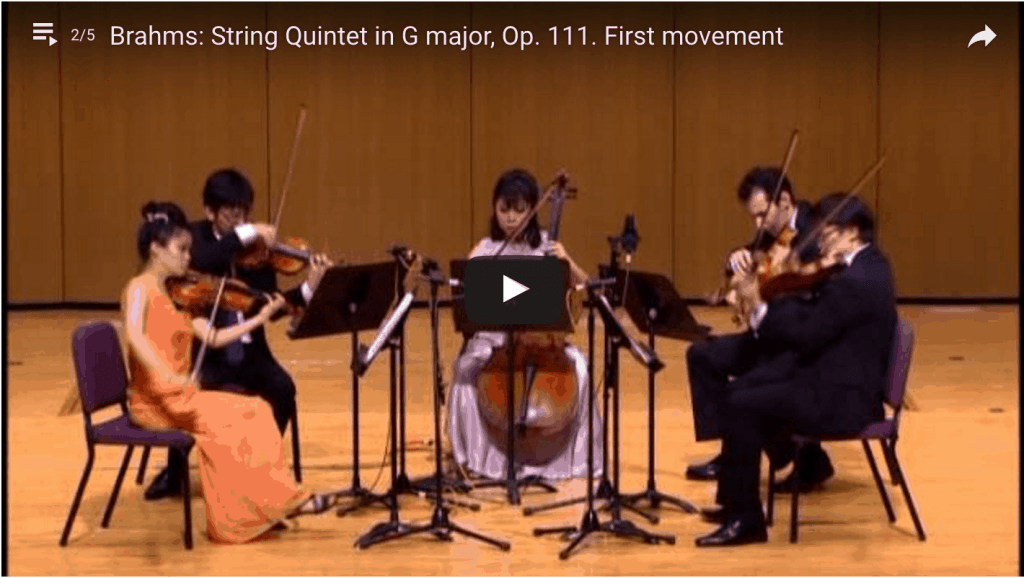 Formosa Quartet Plays Brahms