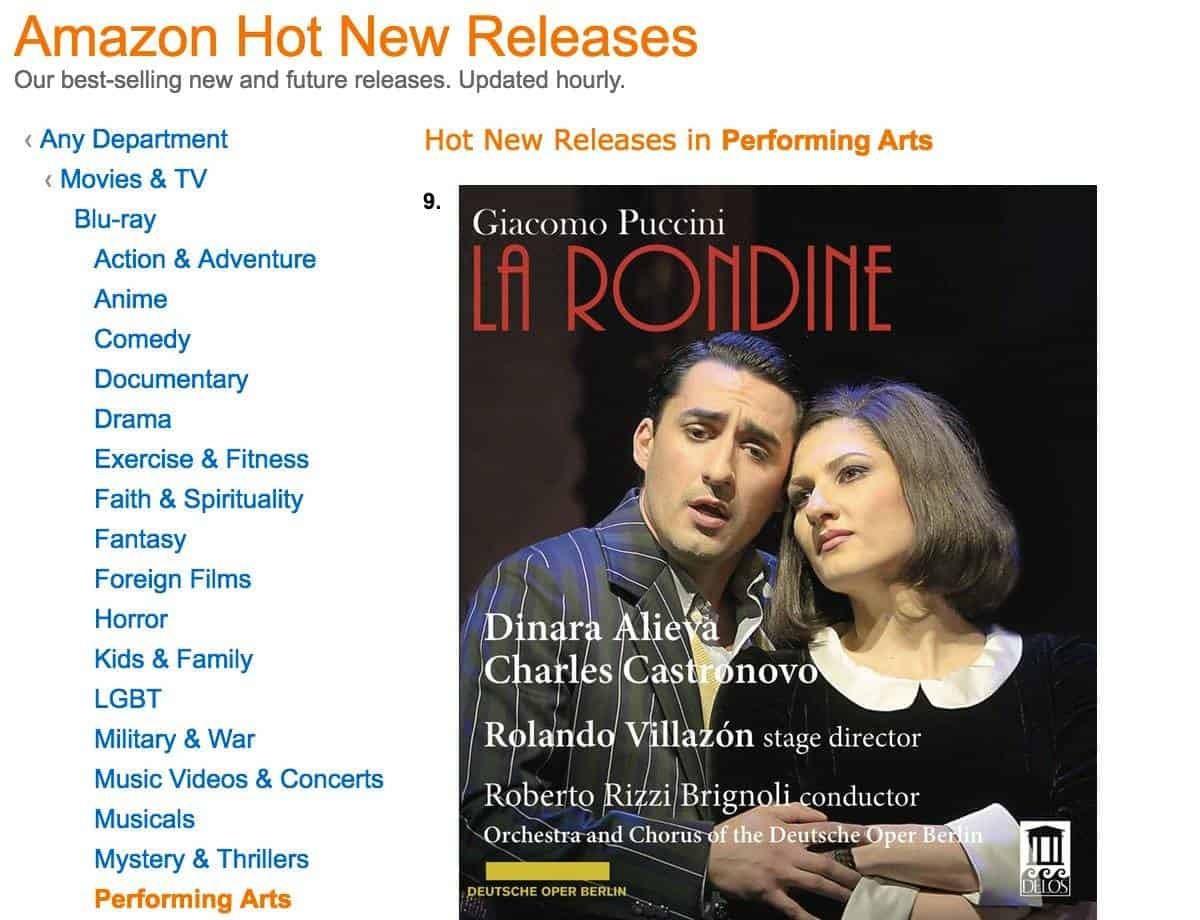 Puccini: La Rondine Hot New Release