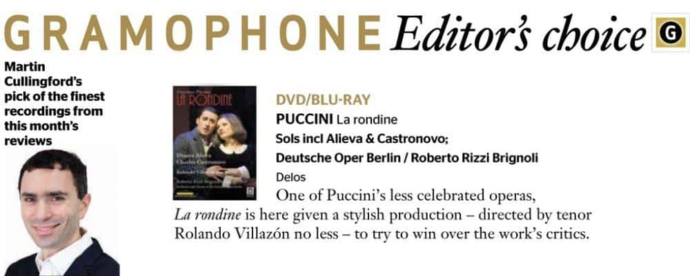 La Rondine Editors Choice