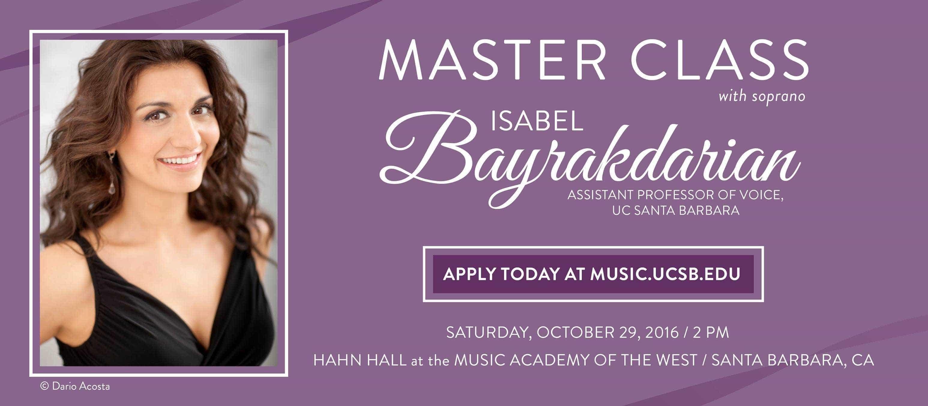 Isabel Bayrakdarian Masterclass