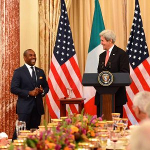 Lawrence Brownlee and Secretary of State John Kerry
