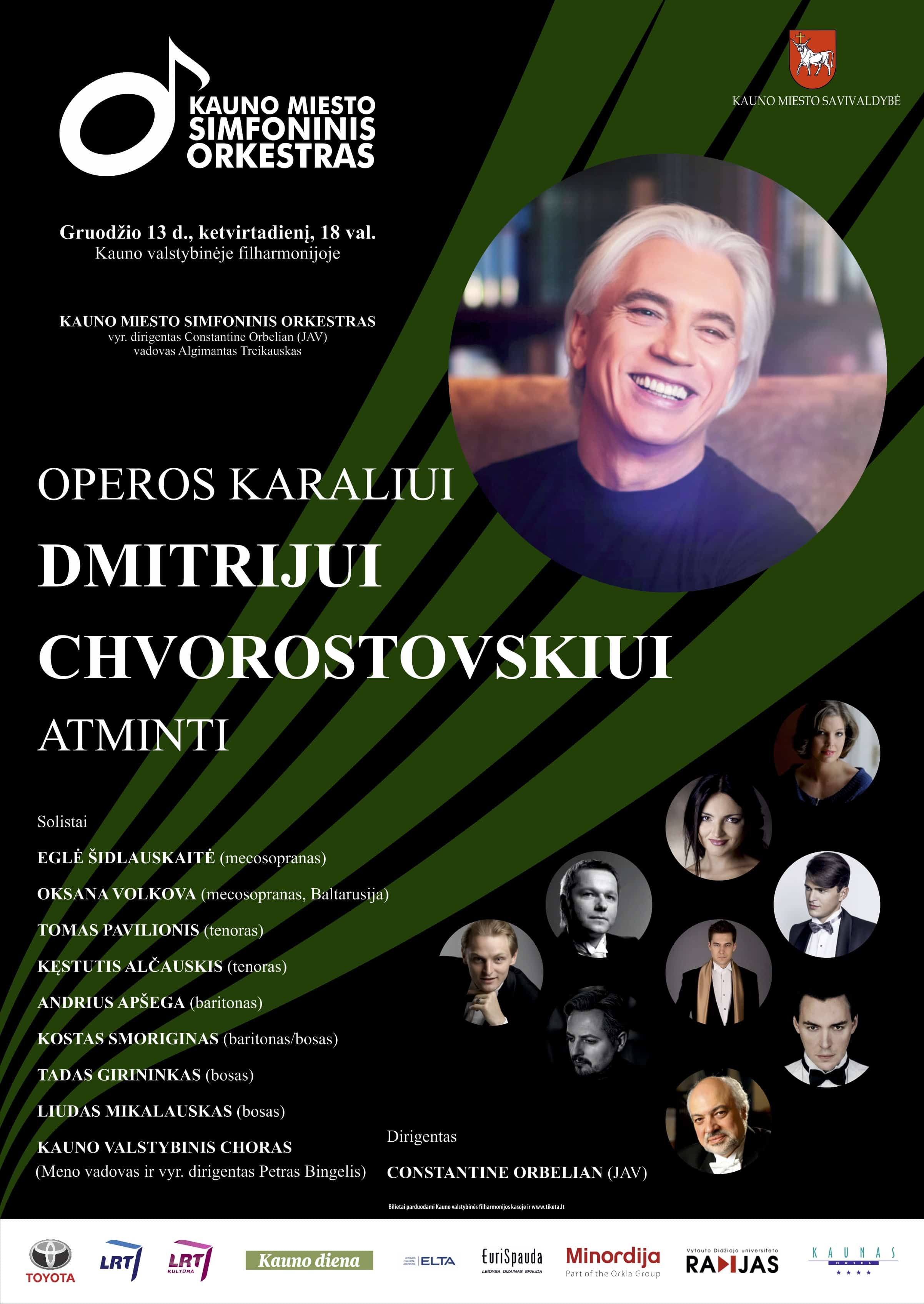 A Special 'In Memoriam' Concert for Dmitri Hvorostovsky - Poster from Kaunas
